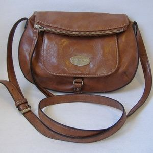 Brown Nine West Faux Leather Purse Shoulder Bag